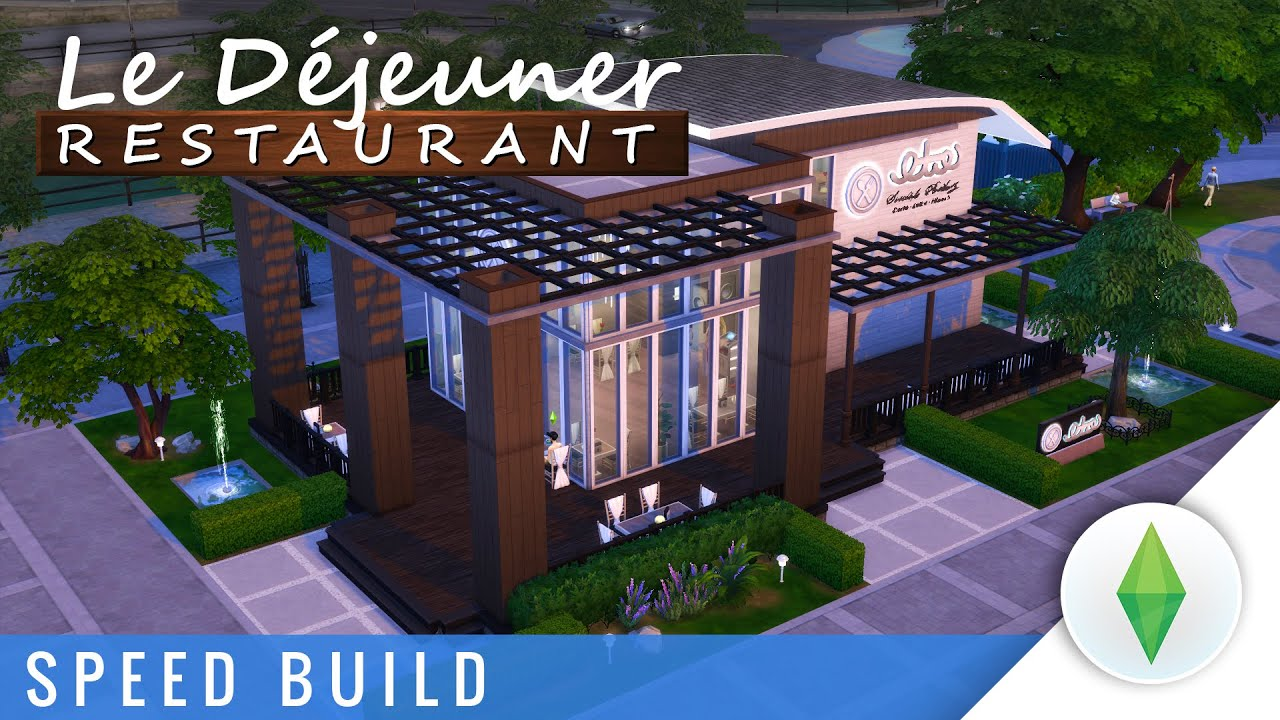 The sims speed build restaurant le déjeuner youtube