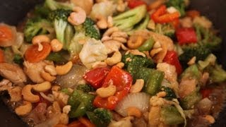 """ Chicken & Vegetables With Cashew Nuts "" Bajias Cooking"