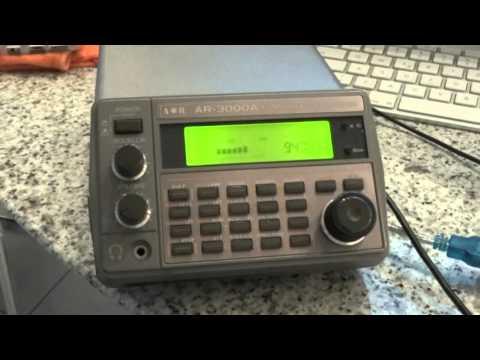AOR AR 3000 A radio with computer control.