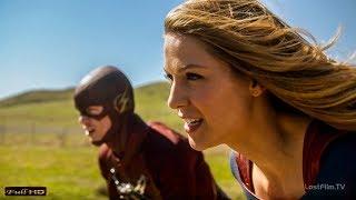 Супергёрл помогает Флэшу вернуться в свой мир. Гонка на Скорость