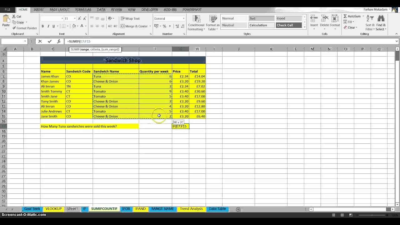 How To Sum On Excel Spreadsheet