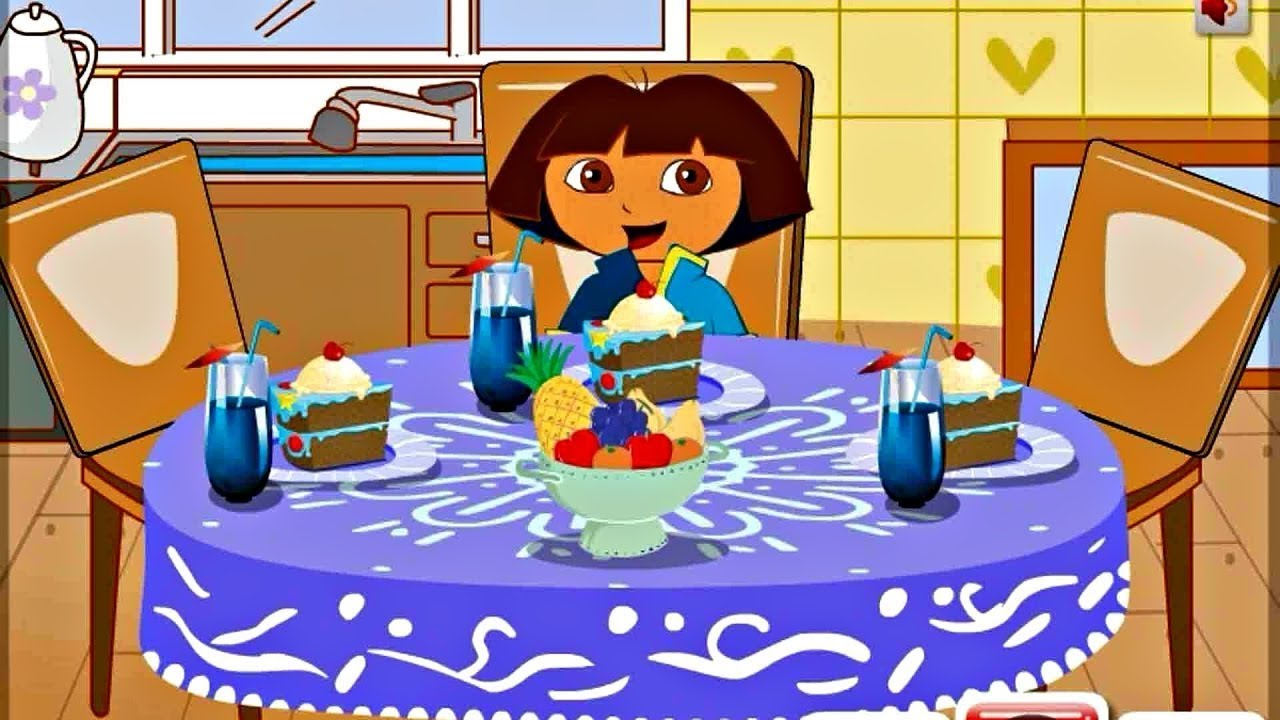 GamePlay Dora The Explorer Dining Table Decor Online Game By GAMES PLANET