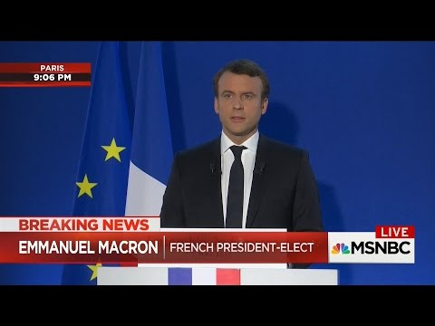 NBC News: Macron Beats Le Pen for French Presidency (May 7, 2017)