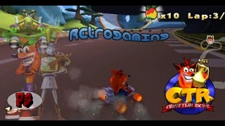 retrogaming gameplay ctr crash team racing codice n oxide e altro