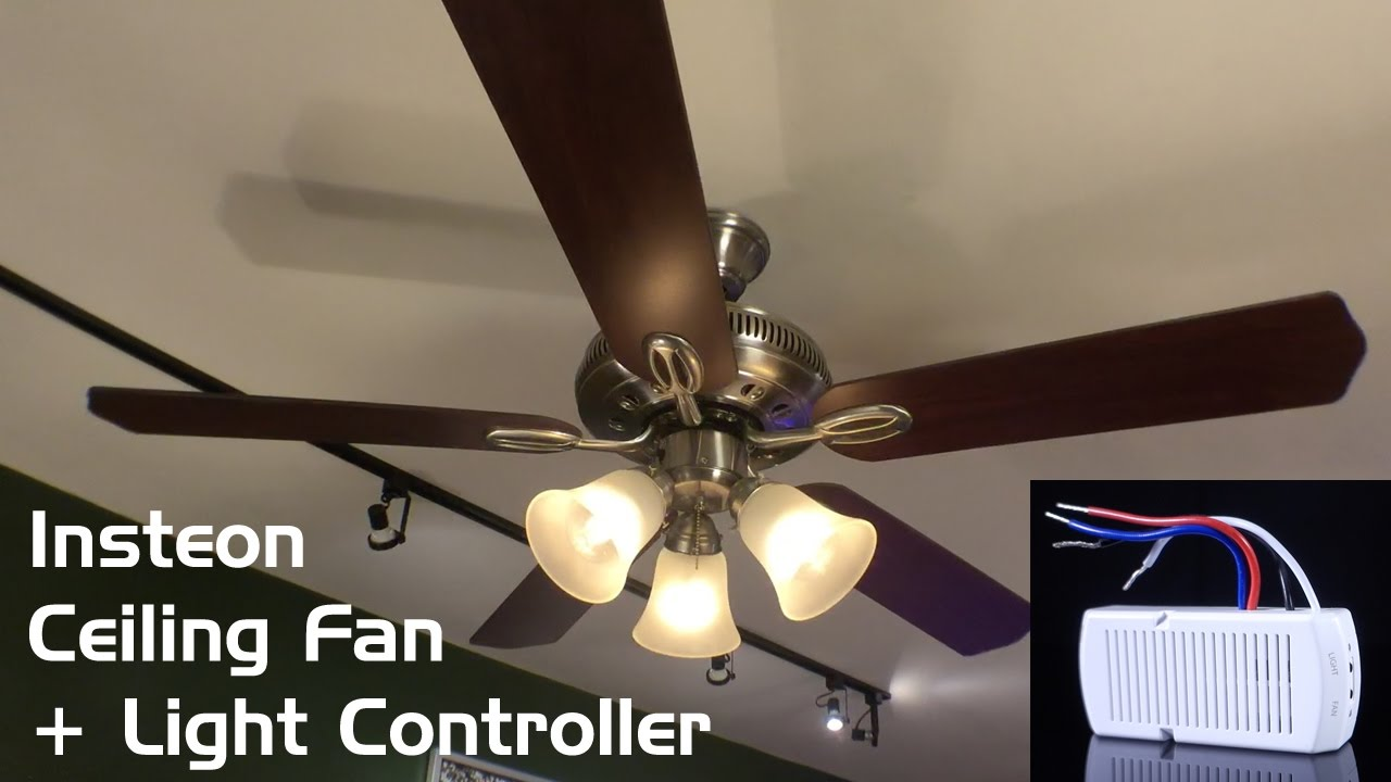 Install review insteon ceiling fan light controller youtube aloadofball Gallery