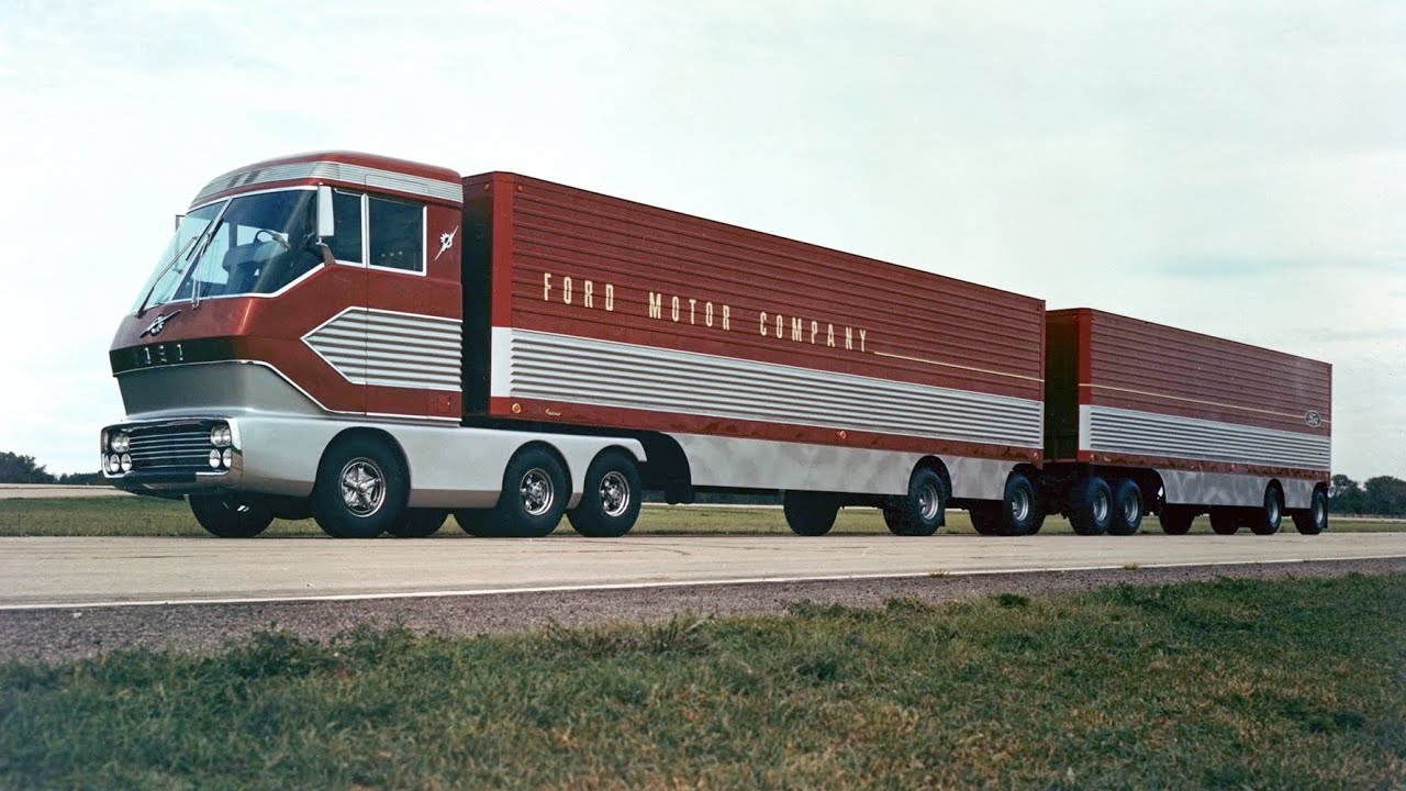 Amazing Restored 1966 Footage of Big Red Turbine Truck from Ford Archives
