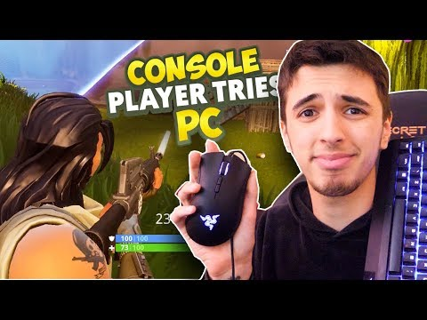 CONSOLE PLAYER TRIES PC FORTNITE FOR FIRST TIME - FORTNITE BATTLE ROYALE