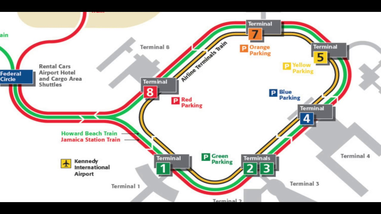 Nyc Subway Map Airtrain.How To Travel In Out Of Jfk Nyc On The Airtrain