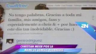 Boda de Christian Meier con Genesis Rodriguez