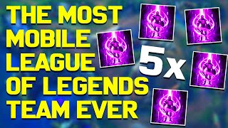The Most Mobile League of Legends Team EVER | 5 Teleports w/Global Ults