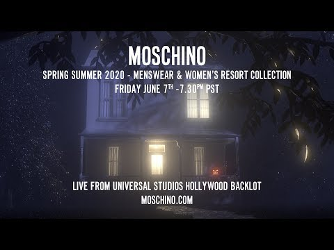 Moschino Spring Summer 2020 Menswear and Women's Resort Collection Fashion Show