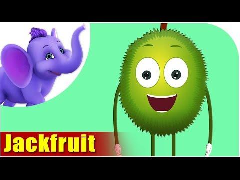 Jackfruit Fruit Rhyme for Children, Jackfruit Cartoon Fruits Song for Kids