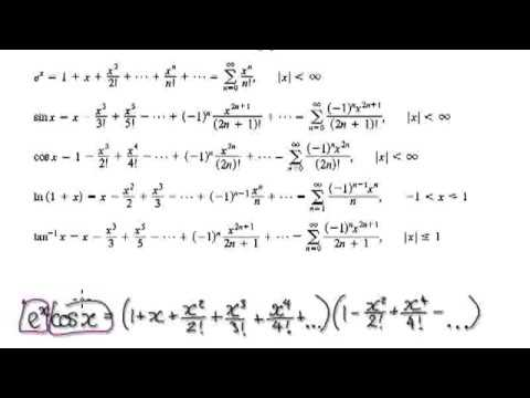 Video 2764 Common Taylor Series Examples Youtube