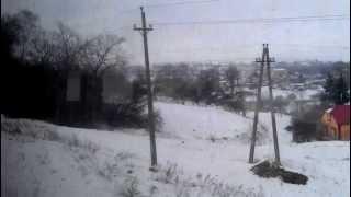 Из окна поезда Волочиск - Подволочиск