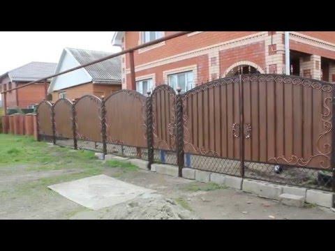 Забор и ворота с ковкой l Цех Корсунский