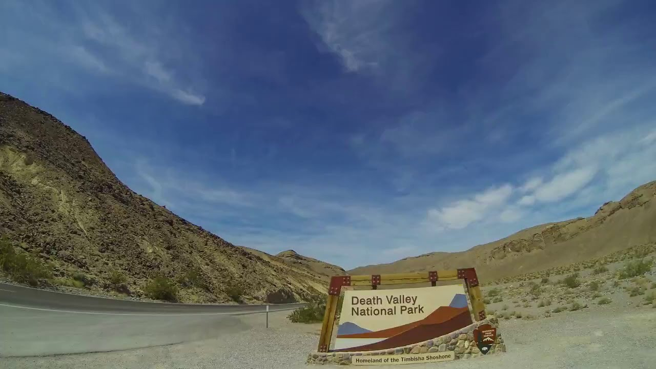 Dantes View In Death Valley - Timelapse