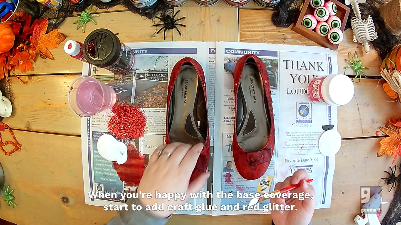dcfdd5865 DIY Ruby Shoes - YouTube