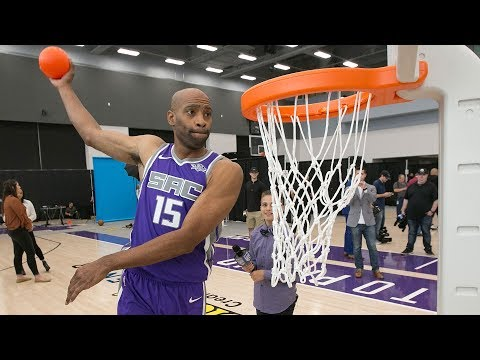 Billups Wants To See Vince Carter In 2018 Dunk Contest | 40 Yrs Old VC Warm-up Dunks Compilation!