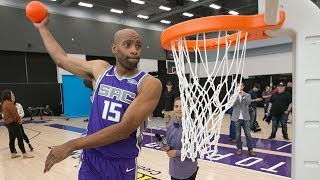 Billups Wants To See Vince Carter In 2018 Dunk Contest | 40 Yrs Old VC Warm-up Dunks Compilation! Video