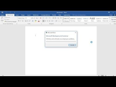Microsoft Word parou de funcionar - Solução