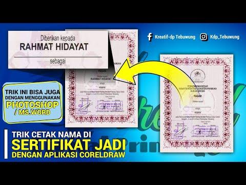 TRIK/CARA CETAK NAMA DI SERTIFIKAT JADI - CORELDRAW || DENGAN SCANNER