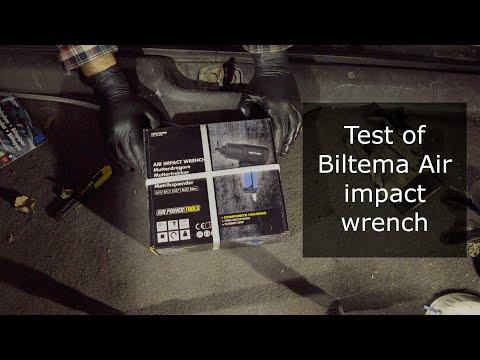 Testing Biltema Mutterdragare (air Impact Wrench)