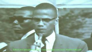 brother malcolm addressing his people at a harlem rally