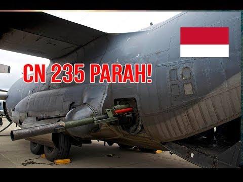 SERIUS!! PESAWAT GUNSHIP CN 235 PT DIRGANTARA INDONESIA PESAING AIRBUS