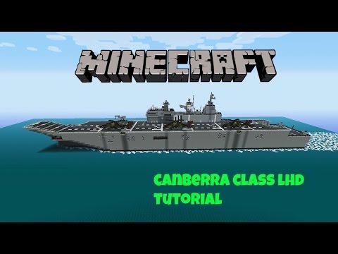 minecraft hmas canberra class LHD tutorial