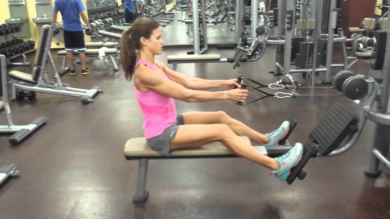 SEATED ROW- perfect form - YouTube