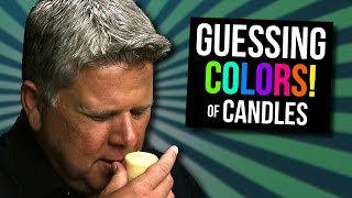 Blind Person Guessing Colors of Scented Candles