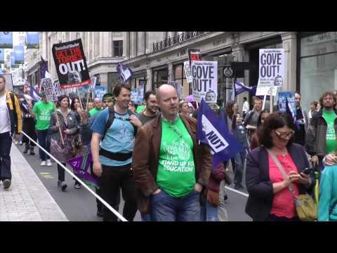 #J10 Strike - London protest on Regent Street
