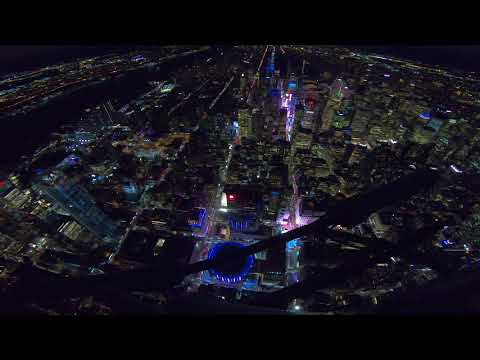 New York City Helicopter Flight At Night