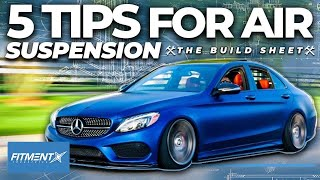 Tips For Running Air Suspension   The Build Sheet