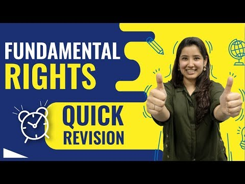 Fundamental Rights Indian Constitution | Quick Revision