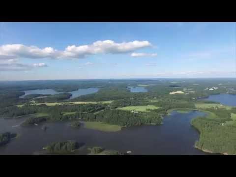 Finland Aerial Lake View (Filmed with DJI Phantom 3)