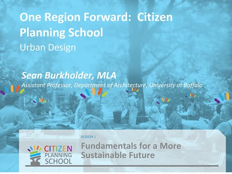 Urban Design [SESSION 1: Fundamentals for a More Sustainable Future]