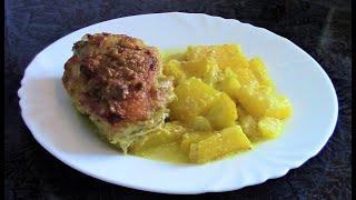 Курица на подушке из кабачков   невероятно вкусное блюдо