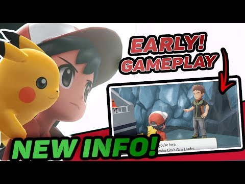 NEW Lets Go Eevee and Lets Go Pikachu SNEAK PEAK Info Revealed Early! First Gameplay Of Let's Go!