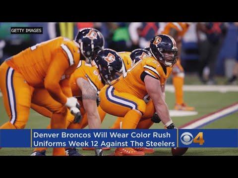 0cfe6ef2 Broncos Will Wear Color Rush Uniforms In Week 12 Vs. Steelers - YouTube