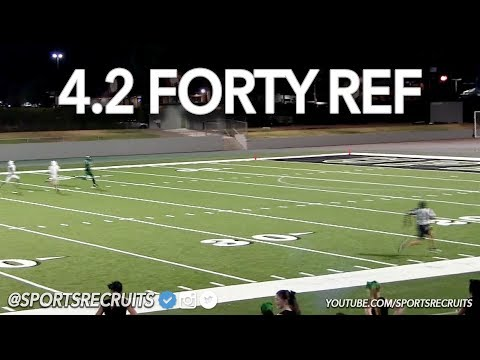 "AS SEEN ON SPORTSCENTER! 4.2 FORTY REFEREE AKA ""FASTEST REF IN THE WORLD"""