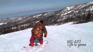 Snowboard GroundTrick in HOKKAIDO ( butter , flatland , flateos )  FTWO/RANDOM