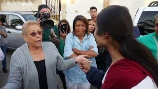 Vecinos de Tijuana rechazan a migrantes de la caravana LGTB