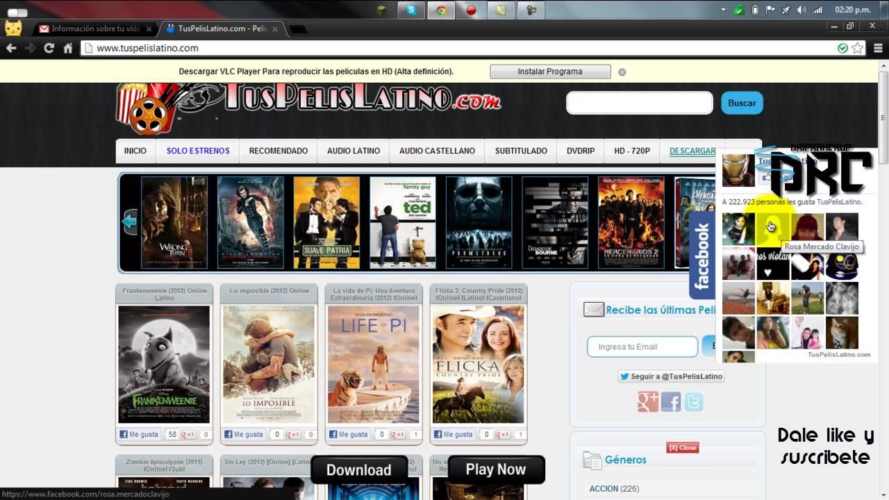 1724abe5763c5 Pagina Web para ver peliculas online Totalmente gratis HD - YouTube