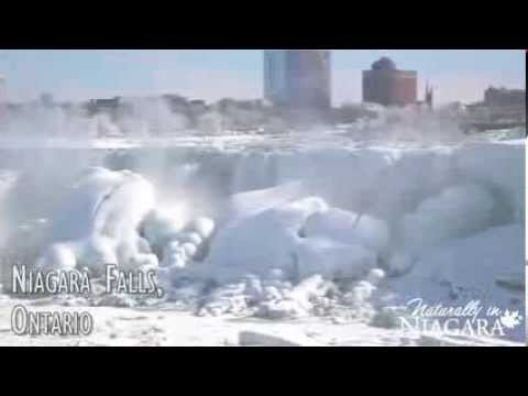 Niagara Falls freezing over