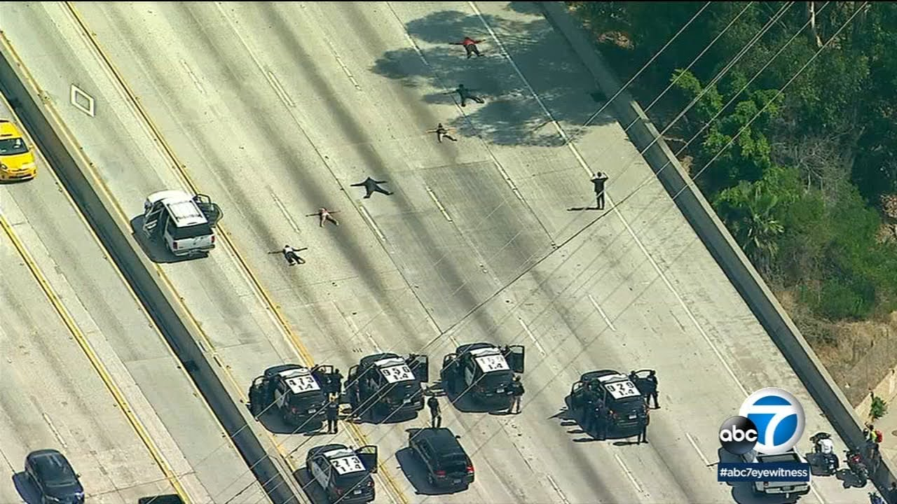 Chase shuts down SB 405 in Westchester as 7 home-invasion suspects taken  into custody | ABC7