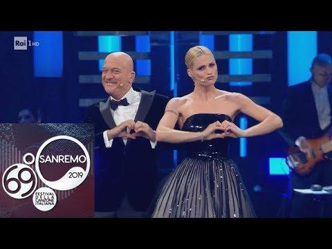 """Sanremo 2019 - Michelle Hunziker, Claudio Bisio e la """"Lega dell'amore"""""""