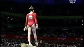 Elise Ray - 2000 Sydney Olympics Gymnastics Prelims - Balance Beam