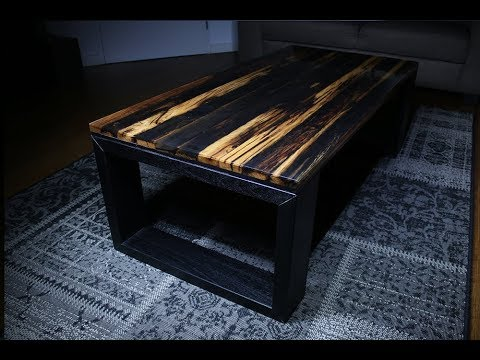 Old oak epoxy coffee table