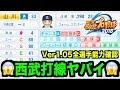 【パワプロ2018】選手能力アップデート!西武打線がヤバイ